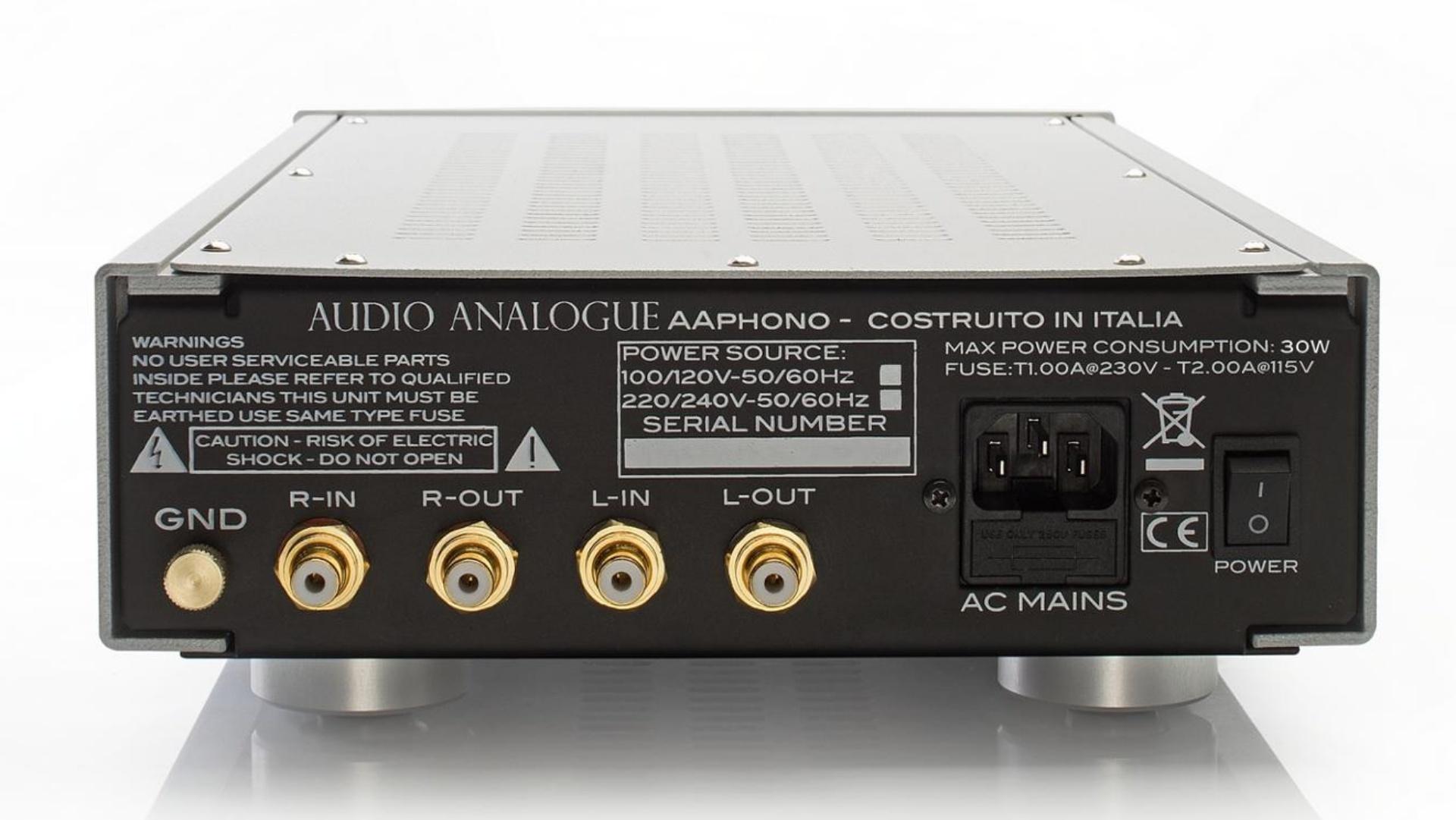 Audio Analogue AAphono Anschlußseite